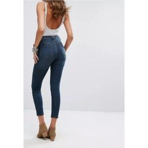 Free people gummy high rise crop Jean's